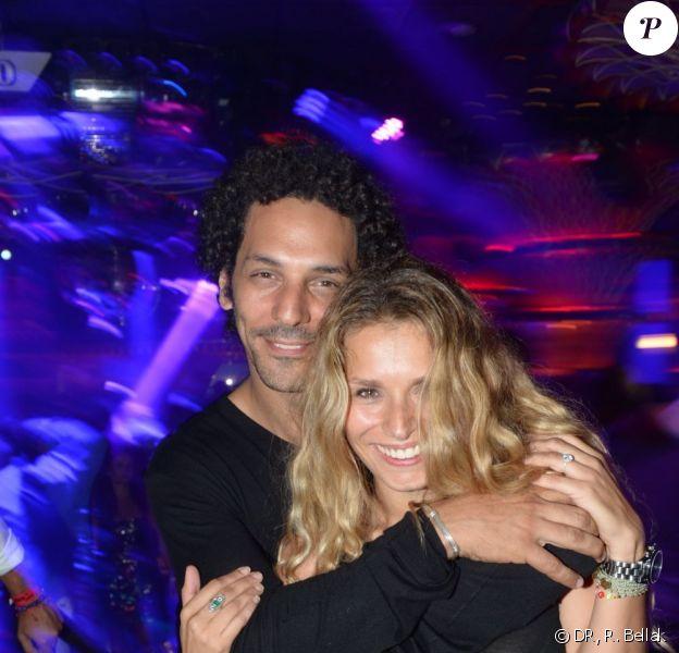 Tomer Sisley et son épouse Julie à la soirée organisée par l'hôtel Byblos à St-Tropez, le samedi 21 juillet 2012.