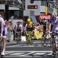 Le sprint final sur les Champs-Elysées pour le Tour de France le 22 juillet 2012