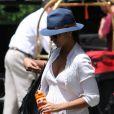 Camila Alves arrive à son hôtel new-yorkais. Le 22 juillet 2012