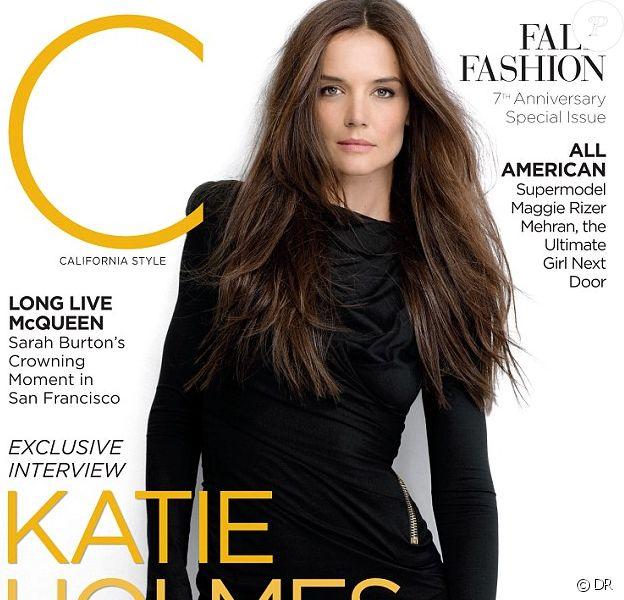 Katie Holmes en couverture de C Magazine pour le mois de septembre 2012