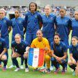 L'équipe de France féminine lors du match entre la France et le Japon (2-0) le 19 juillet 2012 à Paris
