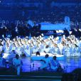 La cérémonie d'ouverture des Jeux Olympiques de Londres le 27 juillet 2012. Danny Boyle ( Slumdog Millionaire, Sunshine ) a été choisi pour mettre en scène l'événemenent.