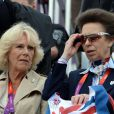 La princesse Anne et Camilla Parker Bowles supportrices de Zara Phillips, médaille d'argent le 31 juillet 2012 pour ses premiers JO. Comme la veille lors de l'épreuve de cross, les membres de la famille royale britannique étaient nombreux mardi 31 juillet 2012 à Greenwich Park pour soutenir Zara Phillips et la voir décrocher avec l'équipe britannique de concours complet la médaille d'argent aux Jeux olympiques de Londres.