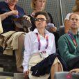 La princesse Anne jeudi 2 août 2012 au vélodrome de Stratford pour la finale de la vitesse sur piste aux Jeux olympiques.