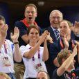 Kate Middleton et le prince William ont explosé de joie jeudi 2 août 2012 au vélodrome de Stratford pour la médaille d'or du trio britannique Philip Hindes-Chris Hoy-Jason Kenny, champions de la vitesse sur piste aux Jeux olympiques.