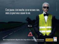 PHOTO : Karl Lagerfeld, mannequin pour... la Sécurité Routière!