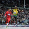 """Usain Bolt a conservé le 5 août 2012 aux JO de Londres sa couronne olympique sur 100m, en 9""""63."""