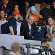"""Le prince Albert de Monaco est venu saluer les jeunes royaux anglais. Kate Middleton, le prince William et le prince Harry ont exulté le 5 août 2012 au stade olympique lors du sacre d'Usain Bolt aux JO de Londres, vainqueur du 100m en 9""""63."""