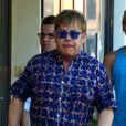 Elton John le 17 juillet 2012 à Saint-Tropez