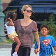 Heidi Klum et ses enfants à New York, le 6 août 2012.