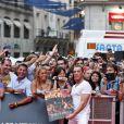 Jean-Claude Van Damme lors de l'avant-première du film Expendables 2 : unité spéciale le 8 août 2012 à Madrid