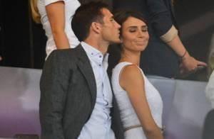 Frank Lampard et sa fiancée Christine Bleakley, tendre soirée au stade olympique