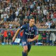Zlatan Ibrahimovic a réussi son entrée en matière sous les couleurs du PSG le 11 août 2012 au Parc des Princes face à Lorient, en présence d'une partie de sa famille.