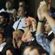 Dans les tribunes du Parc des Princes, l'une des soeurs de Zlatan Ibrahimovic l'encourageait avec ferveur pour ses débuts avec le PSG, le 11 août 2012 face à Lorient.
