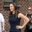 Jennifer Garner arrive sur le plateau du Late Show à New York, le 14 août 2012