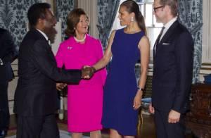 Princesse Victoria : Sublime pour la réception du Brésil et du roi Pelé
