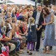 La princesse Mary le 15 août 2012 lors de l'inauguration du Festival floral d'Odense.