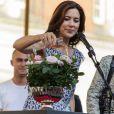 La princesse Mary de Danemark a procédé au baptême de la rose Princess of Infinity le 15 août 2012 lors de l'inauguration du Festival floral d'Odense.