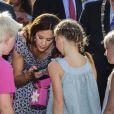 La princesse Mary de Danemark le 15 août 2012 lors de l'inauguration du Festival floral d'Odense.