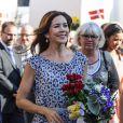 La princesse Mary de Danemark inaugurait le 15 août 2012 le Festival floral d'Odense.