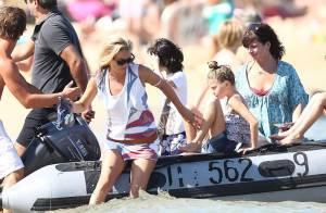 Kate Moss continue sa Dolce Vita à Saint-Tropez, avec sa superbe fille Lila