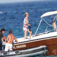 Kate Moss, épanouie dans les eaux de Saint-Tropez le 19 août 2012