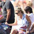 Kate Moss a passé une douce journée lors de ses vacances à Saint-Tropez avec sa fille, Lila, le 19 août 2012