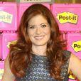 Debra Messing dans une école élémentaire pour promouvoir la marque Post-it, à New York, le 22 août 2012.