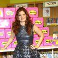 L'actrice Debra Messing dans une école élémentaire pour promouvoir la marque Post-it, à New York, le 22 août 2012.