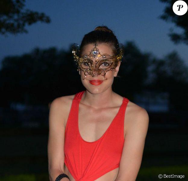 Charlotte Casiraghi le 17 août 2012 lors de la soirée de gala du concours hippique international de Valkenswaard