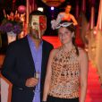 Athina Onassis et son mari Alvaro de Miranda le 17 août 2012 lors de la soirée de gala du concours hippique international de Valkenswaard