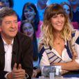 Daphné Bürki et Jean-Luc Mélenchon séduits par Doria Tillier, nouvelle miss météo, dans Le Grand Journal, neuvième saison, sur Canal + le lundi 27 août 2012