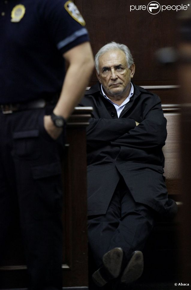 Dominique Strauss-Kahn au tribunal de New York, le 16 mai 2011.
