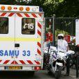 L'ambulance de Christiane Taubira à Bordeaux, le 31 août 2012.