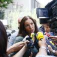 La conseillère presse de la ministre, Muriel Barthélémy à Bordeaux, le 31 août 2012.