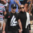 Jennifer Lopez et Casper Smart, en amoureux quelques heures avant le concert. Miami, le 31 août 2012.