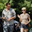 Jason Segel, Michelle Williams sa fille Matilda visitent le Bronz Zoo. New York, le 31 août 2012.