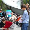 Katie Holmes et Suri Cruise très casse-cou dans un parc de New York, le 3 septembre 2012.