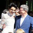 Mariage de Farida Khelfa et Henri Seydoux à la mairie du 17arrondissement de Paris, le 1er septembre 2012.