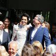 Mariage de Farida Khelfa et Henri Seydoux, sous le regard de Christian Louboutin et Arielle Dombasle, à la mairie du 17arrondissement de Paris, le 1er septembre 2012.