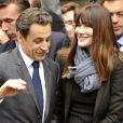 Nicolas Sarkozy et Carla Bruni-Sarkozy à Paris le 6 mai 2012.