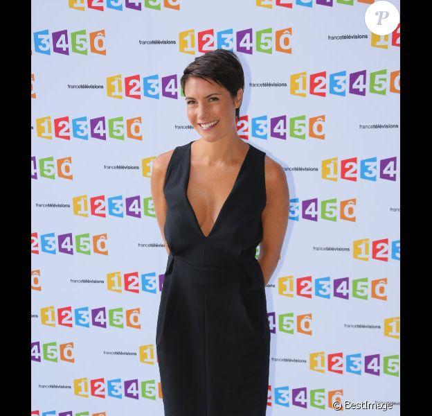 La belle Alessandra Sublet à la conférence de rentrée de France Télévisions le 28 août 2012 à Paris