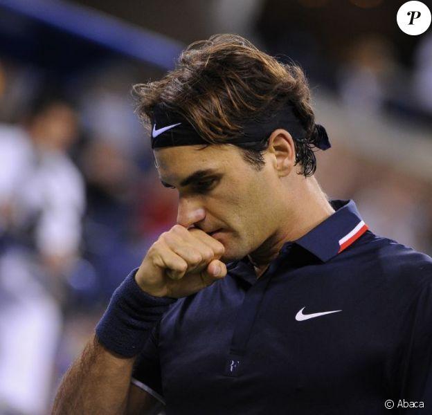 Roger Federer s'est incliné à la surprise générale en quart de finale de l'US Open face à Thomas Berdych à New York le 5 septembre 2012