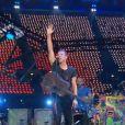 Concert de Coldplay pour la cérémonie de clôture des Jeux paralympiques de Londres, le 9 septembre 2012.