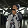 Rihanna à l'aéroport d'Heathrow, s'apprête à prendre son vol pour Los Angeles. Londres, le 10 septembre 2012.