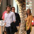 Bradley Cooper, Ed Helms et Gillian Vigman sur le tournage de Very Bad Trip 3 à Los Angeles le 12 septembre 2012