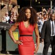 Serena Williams le 22 août 2012 à New York après son apparition dans le talkshow de David Letterman