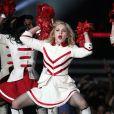 Madonna sur la scène du Yankee Stadium de New York à l'occasion du MDNA Tour, le 6 septembre 2012.