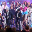 Jamel Debbouze sur le plateau d'enregistrement du Plus Grand Cabaret du Monde diffusé le 6 octobre sur France 2 et animé par Patrick Sébastien