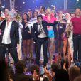 Jamel Debbouze déchaîné sur le plateau d'enregistrement du Plus Grand Cabaret du Monde diffusé le 6 octobre sur France 2 et animé par Patrick Sébastien